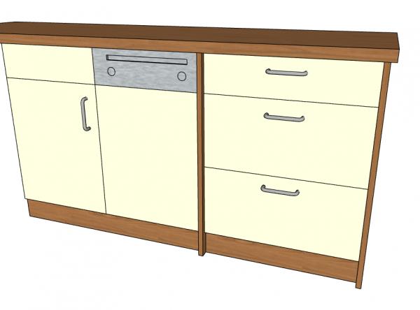 Kunden-Sonder Anfertigung MB passend zur vorhandenen Kücheneinrichtung