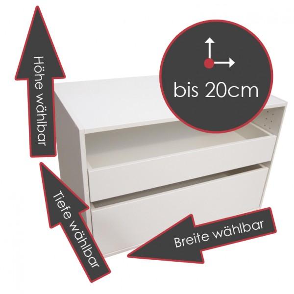 Typ KB, weiß, Hö/Br/Ti wählbar